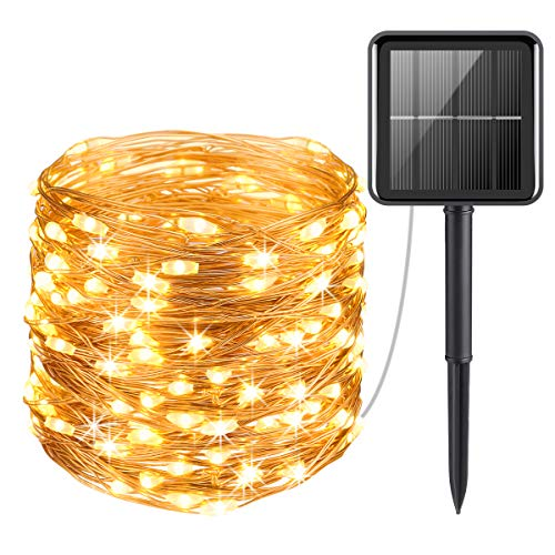 AMIR Upgraded Solar Powered String Lights, Mini 100 LED Copper...