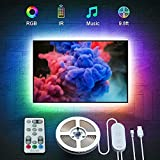 Govee TV Backlights, RGB TV LED Backlight with Remote, Music Sync, 10FT LED Lights for TV with 32 Colors Multi Scene Modes, LED Strip Lights for 46-60 inch TVs, USB Powered