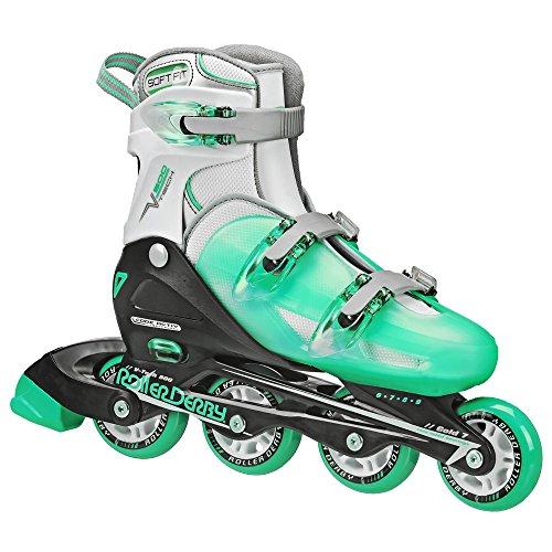 Roller Derby Women's V-Tech 500 Button Adjustable Inline Skate, Mint