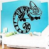 hetingyue Divertido camaleón Etiqueta de la Pared Amantes de los Animales decoración Familiar habitación de los niños vivero decoración Pared 104x120cm
