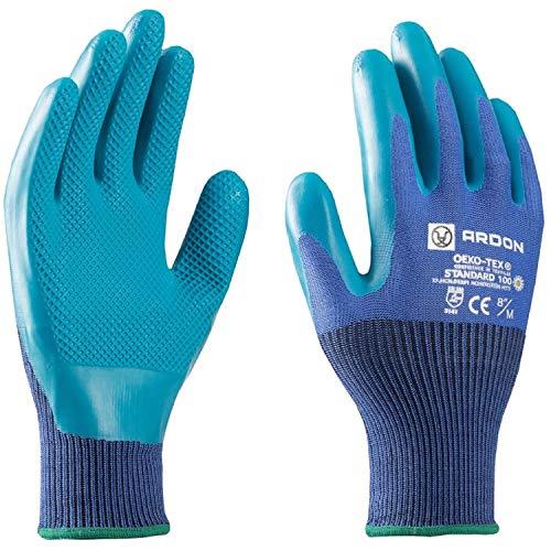 Guanti da lavoro - ecologici, sicuri per le mani, antiscivolo, bio guanti da giardino, ideali per...