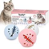 Lot de 3 balles interactives pour chat avec lumière clignotante,...