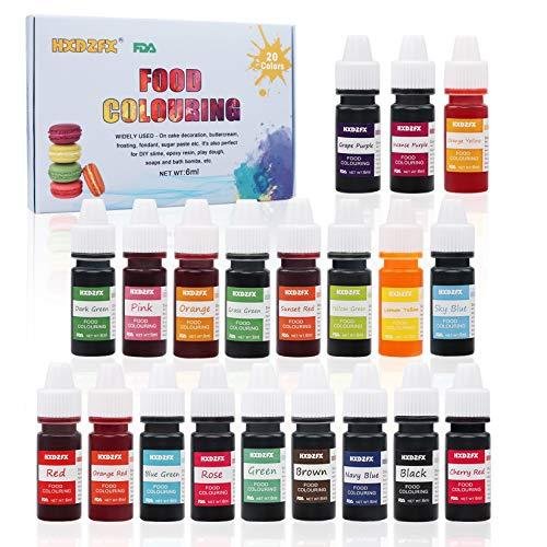 Colorante alimentario 20*6ml, Colorante Alimentario Alta Con