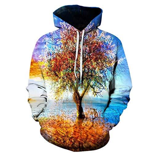 Jan STORE Unisex Hooded Sweatshirts 3D Printed Hoodies Colorful Horror Pattern Hoode Sweatshirt Sweatjacket White