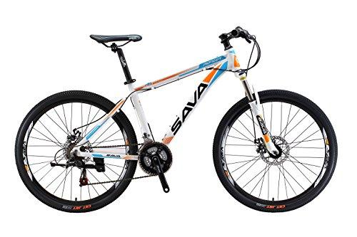 Aluminum Frame Mountain Bike 21 Speed (White Blue, 17