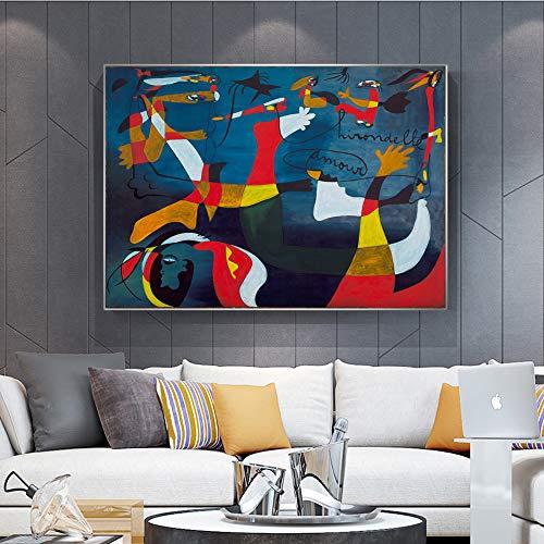 SADHAF Famoso dipinto ad olio su tela, Stampe murali, Immagini per la decorazione del soggiorno di...