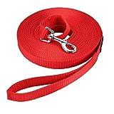 HAPPY HACHI Laisse de Dressage pour Chien (10m Rouge) Longue Sangle en Nylon...
