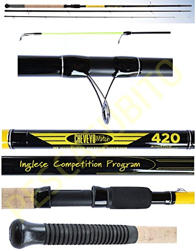 Canna Da Pesca Inglese Cheveyo 4.20Mt Match Fishing 3 Sezioni Carbonio Gara
