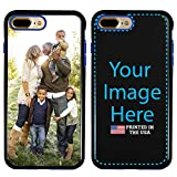 Custom iPhone 7 Plus / 8 Plus Cases by Guard Dog - Personalized - Make Your Own Protective Hybrid Phone Case. (Black, Blue)