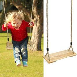 PELLOR Wood Rope Tree Swing Seat Set for Children Indoor and Outdoor Play