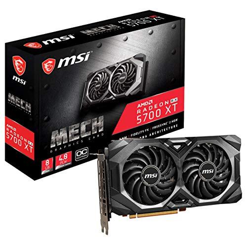 MSI Gaming Radeon Rx 5700 Xt Boost Clock: 1925 MHz 256-bit 8GB GDDR6 DP/HDMI Dual Fans Crossfire Freesync Navi Architecture Graphics Card (RX 5700 Xt Mech OC), Model:R5700XTMHC