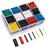 LIBERRWAY 615 Pcs Gaine Thermorétractable 6 Couleurs 8 Tailles Ratio 2:1 Tube...