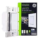 GE Enbrighten Z-Wave Plus 1000-Watt Smart Dimmer, No Neutral Wire Required, Halogen/Incandescent Bulbs Only, Works with Alexa/Google Assistant, ZWave Hub Required, White & Light Almond, 14299
