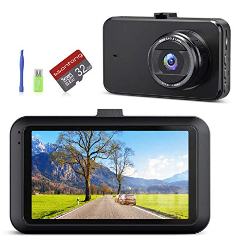 """Dash Cams for Cars Dash Camera with 32G SD Card【2020 Upgraded】1080P Full HD Dashcam for Car 3.0"""" IPS Screen Dashboard Camera with Night Vision WDR G-Sensor Loop Recording 170° Angle Parking Monitor"""
