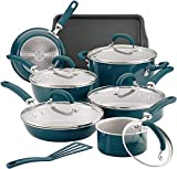 Rachael Ray Create Delicious Nonstick Cookware Set (13-Piece, Aluminum Teal Shimmer)
