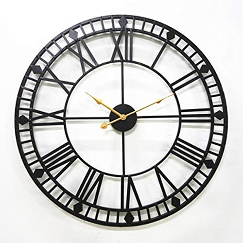 80 cm Oversize Orologio da Parete in Metallo Design Moderno Stile Antico Romano arrugginito Grandi...