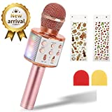 Microphone Karaoké Sans Fil pour Enfants, EXJOY Microphone Bluetooth avec...