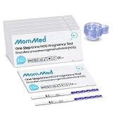 MOMMED Test de Grossesse Précoce(25 mIU/ml), Y compris 25 X test grossesse et 25 X récipients de collecte d'urine, Pregnancy Test, HCG Test avec une précision de plus de 99%, emballé individuellement