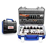 Rotary Tool Accessories Kit, APEXFORGE 357 Pieces 1/8'(3.2mm) Diameter Shanks Universal Fitment for Easy Grinding, Sanding, Sharpening, Carving-M0
