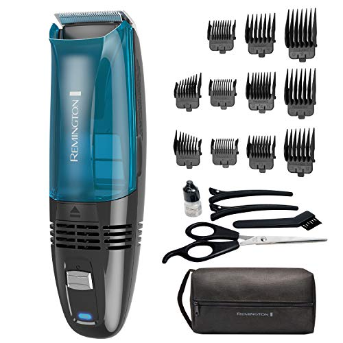 Remington Hc6550 Cordless Vacuum Haircut Kit, Vacuum Beard Trimmer, Hair Clippers for Men, 18Piece