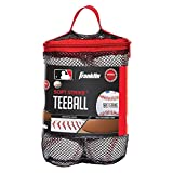 Franklin Sports Soft-Strike Teeball - Official Size and Weight Approved For Teeball - Hollow Rubber Core Technology For Safety - MLB Teeball Ball For Indoor/Outdoor Use - Pack of 6