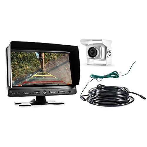 Video Sistema Kit retromarcia per Auto Camper Furgone con Telecamera Posteriore e Monitor 7 Pollici TFT, Retrocamera con Visione Notturna Funzionamento 12V ~ 24V IP68 Impermeabile