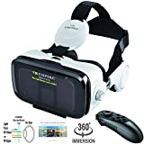 VR Headset Virtual Reality Headset 3D Glasses with 120°FOV, Anti-Blue-Light Lenses, Stereo Headset,...