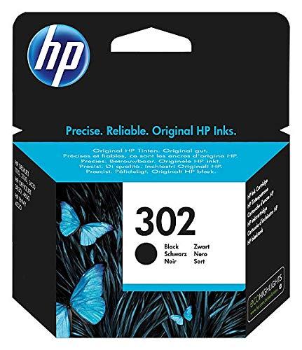 HP 302 F6U66AE Cartuccia Originale, da 190 Pagine, per Stampanti HP DeskJet Serie 1100, 2130, 3630,...