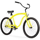 Firmstrong Bruiser Man Single Speed Beach Cruiser Bicycle, 26-Inch, Yellow