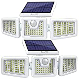 Solar Lights Outdoor -2 Pack, AmeriTop 800LM Wireless 128 LED Solar Motion Sensor Lights Outdoor; 3...