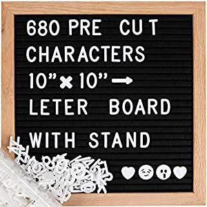YOUR BEST GIFT CHOICE-This changeable letter board is a great ideal choice to express your best wishes and blessings. A cute black handmade felt board that you will love it which has funny letters and creative design. It was perfect for Christmas, bi...