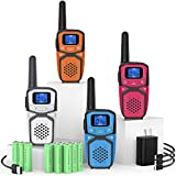 Rechargeable Walkie Talkies for Adults Kids, Long Range Portable FRS Two Way Radios with Batteries...