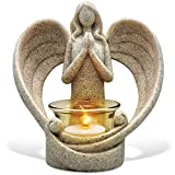 OakiWay Memorial Gifts  Tealight Candle Holder Sympathy Gift, with Flickering Led Candle, Angel Figurines in Memory of Loved One, Bereavement Gifts - Remembrance Gifts - Condolence Gifts