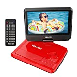 TENKER 9.5' Portable DVD Player with Swivel Screen, Rechargeable Battery and SD Card Slot & USB Port