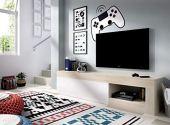 LIQUIDATODO ® - Mueble de tv 204 cm moderna y barata en natural y blanco brillo