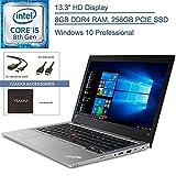 2020 Lenovo ThinkPad L380 13 Ultrabook 13.3' Business Laptop Computer, Intel Quad-Core i5-8250U (Beats i7-7500U), 8GB DDR4 RAM, 256GB PCIe SSD, AC WiFi, USB Type-C, Windows 10 Pro, YZAKKA Accessories