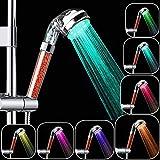 Rovtop Douchette de Douche LED, Douchette douche salle de bain Douchette à main 7...