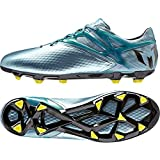 adidas Performance Messi 10.1 FG/AG, Scarpe da Calcio Uomo, Argento (Silber (Matte Ice Metallic/Bright Yellow/Core Black)), 40 2/3 EU