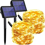 Solar String Lights Outdoor Waterproof, 2 Pack Each 72FT 200 Leds...