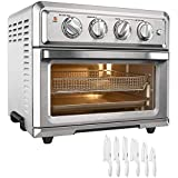 Cuisinart TOA-60 Convection Toaster Oven Air Fryer with Light Stainless Steel Bundle Exclusive 12 Pc...