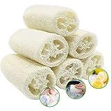 6 Piezas Loofah Natural, Esponjas de Luffa Nature Exfoliante Cuerpo Spa Loofah Scrubber para Baño y...