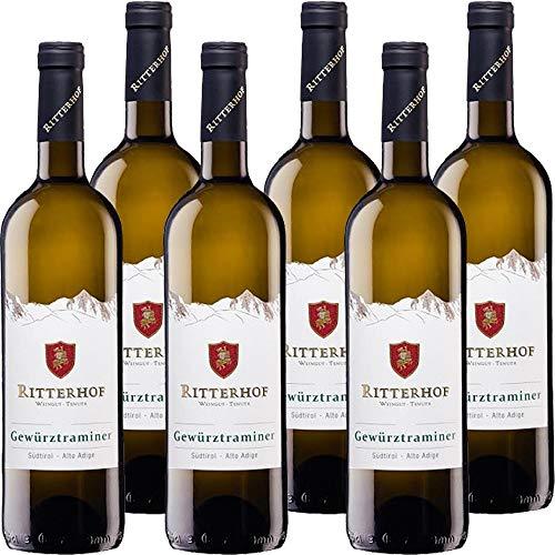 Gewurztraminer Ritterhof | Alto Adige DOC | Vino Bianco Altoatesino | Trentino | 6 Bottiglie da 75 Cl | Idea Regalo