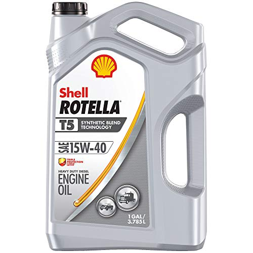 Shell Rotella T5 Synthetic Blend 15W-40 Diesel Engine Oil...