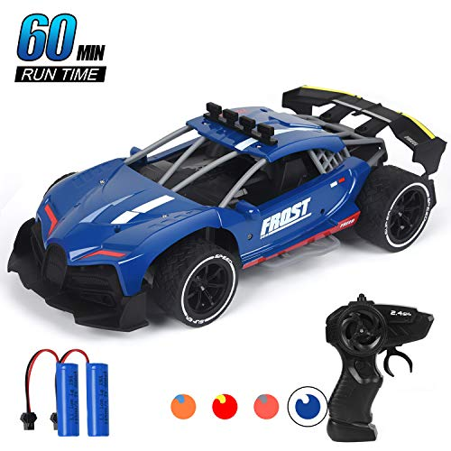 Think Wing RC Racing Cars, 1/16 Scale High Speed Remote Control Car with 2.4Ghz, Electric Sport Toys Car with Two Rechargeable Batteries for Boys Girls & Adults (06116-3)