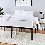 Amazon Basics Heavy Duty Non-Slip Bed Frame with Steel Slats, Easy Assembly - 18'H, (Full)