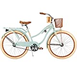 24' Huffy Women's Nel Lusso Cruiser Bike, Mint, Wire Basket