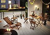 SAM Gartenliege Fuki Sonnenliege für Balkon & Garten, Deckchair klappbar, Akazien-Holz massiv, FSC 100% Zertifiziert - 3