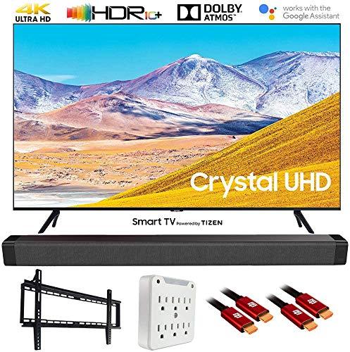 SAMSUNG UN50TU8000 50' 4K Ultra HD Smart LED TV (2020 Model) w/Deco Gear Soundbar Bundle
