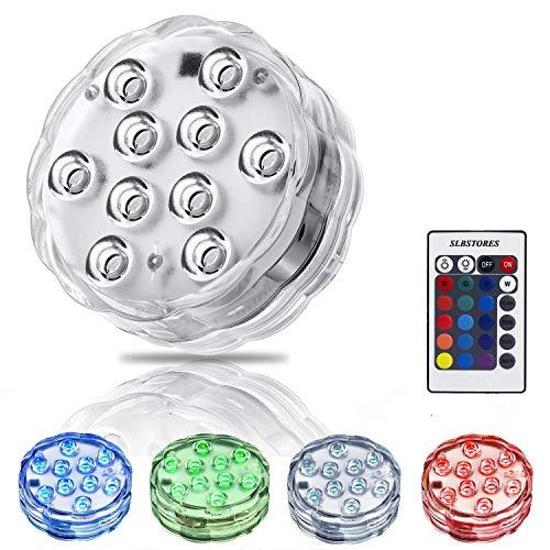 10-LED RGB Submersible LED Light, Multi Color Waterproof