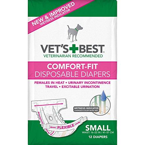 Vet's Best Comfort Fit Dog Diapers | Disposable...